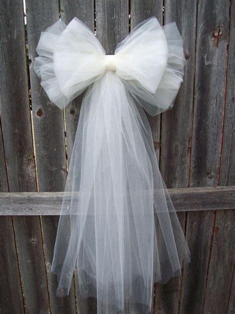 tulle pew bows pew bows and tulle on pinterest