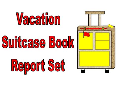 character book reports character vacation suitcase book report other files