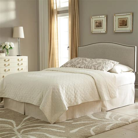 Upholstered Headboard With Wood Trim Fashion Bed Carlisle Carlisle King Upholstered Headboard Panel With Solid Wood Adjustable