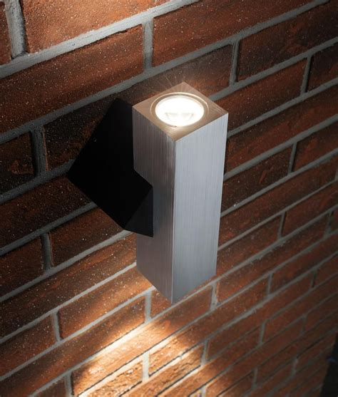 outdoor led wash lights chunky angular and compact exterior wall wash light