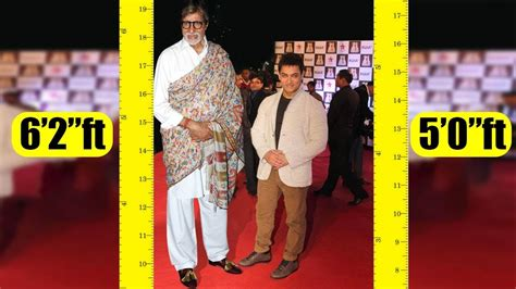 actor height bollywood shortest to tallest all bollywood actors real height youtube