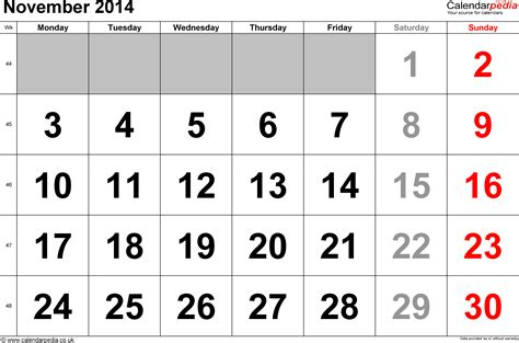 Calendar For November 2014 Calendar November 2014 Uk Bank Holidays Excel Pdf Word