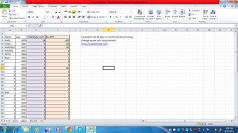 Salary Spreadsheet by How To Calculate Salary In Excel Free Excel