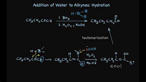 hydration of alkynes hydration of alkynes to make aldehydes and ketones