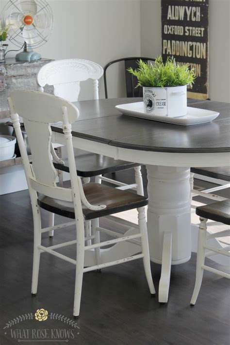 Farmhouse Style Kitchen Table by Farmhouse Style Painted Kitchen Table And Chairs Makeover