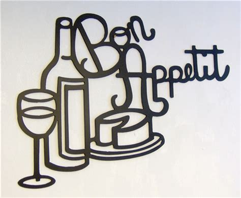 back 40 metal worx bon appetit kitchen metal wall art