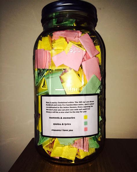 themes love jar perfect boyfriend puts 365 love notes in a jar for his