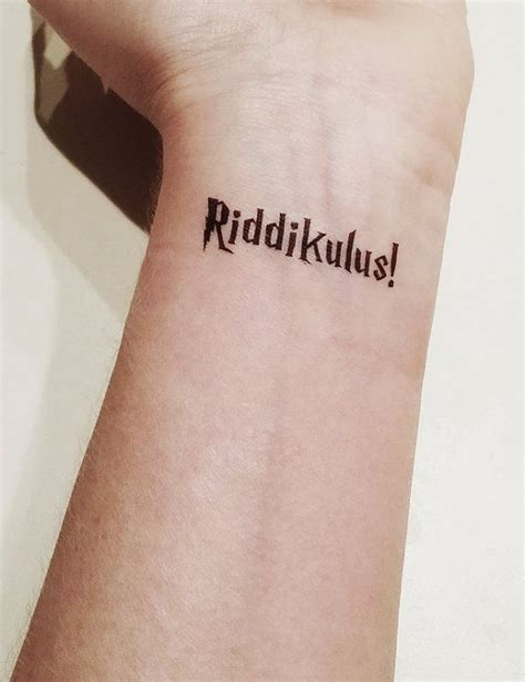 harry potter henna tattoo harry potter riddikulus temporary by popgeektattoos