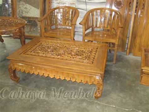 Meja Jati Ketapang set meja kopi ketapang kayu jati meja ketapang ukiran