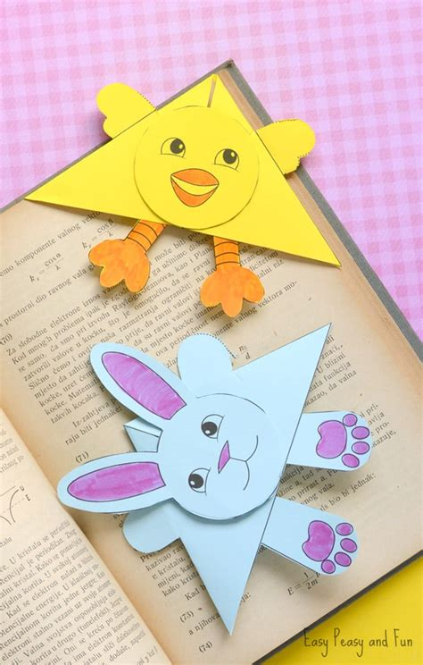 bookmark crafts for easter corner bookmarks bunny and template easy