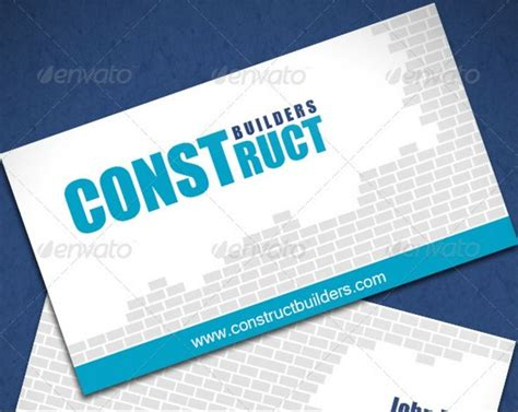 construction business cards templates free 11 best logo ideas images on business cards