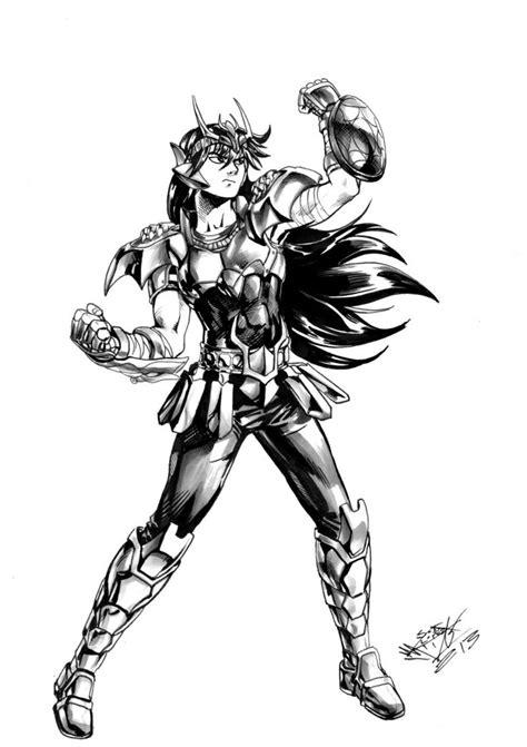 shiryu coloriage les chevaliers du zodiaque pinterest