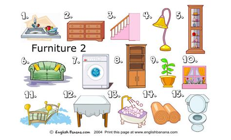 furniture and things in the house for