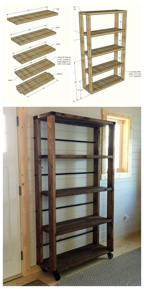 simple wood shelves best 25 rolling shelves ideas on you re a