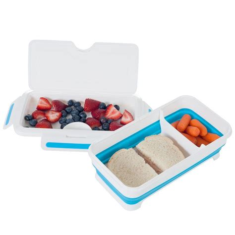 rectangular expandable lunch box with dividers 82 hh094