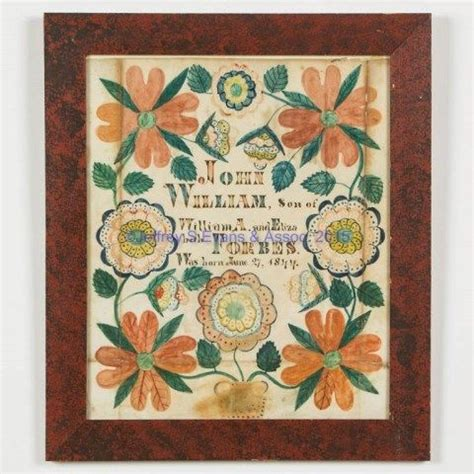 Birth Records Colorado 216 Best Virginia Fraktur Southern Arts Crafts Images On