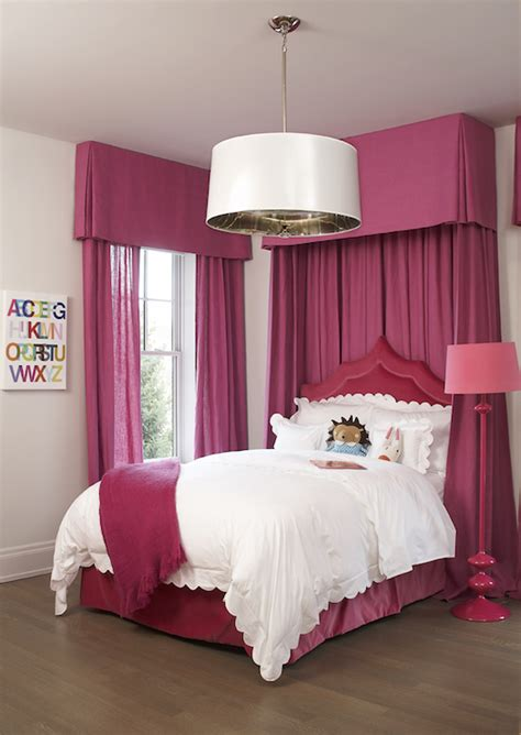 hot pink bedroom curtains hot pink curtains transitional girl s room leo