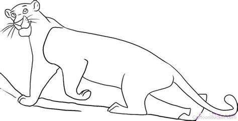 jungle book characters coloring pages bagheera pictures images