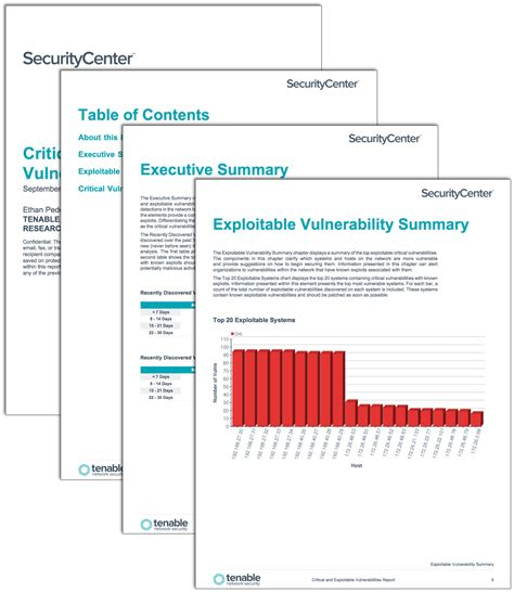network analysis report template critical and exploitable vulnerabilities report sc report template tenable