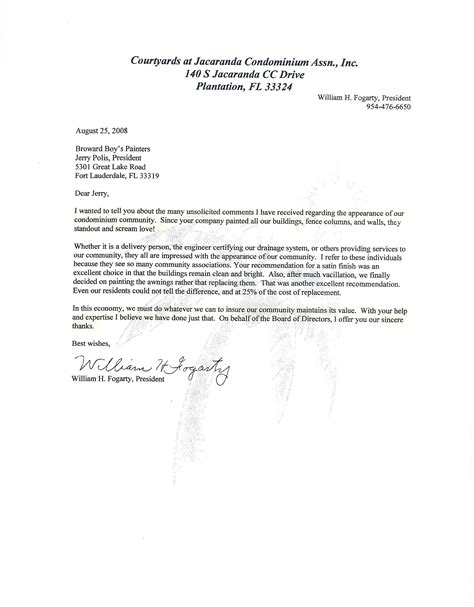 Financial Reference Letter For Condo Board broward painters broward painting commercial painting