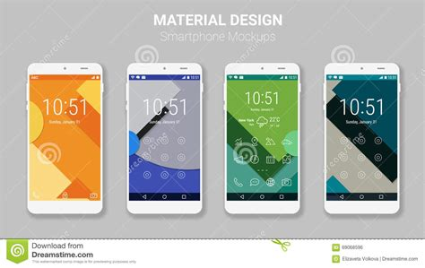 material design ui mockup mockup screens with santa claus hats collection isolated
