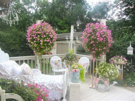 shabby chic style garden design ideas photos