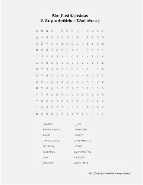 The Free Search The Word Search Puzzle Free Printables Sunday School Lessons Of Plenty