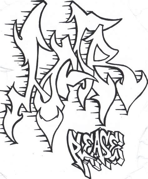 imagenes de graffitis para dibujar a lapiz de rap dibujos de graffiti para imprimir y colorear colorear
