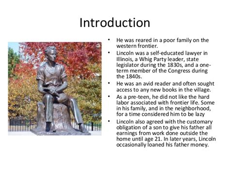 abraham lincoln biography presentation abraham lincoln short presentation