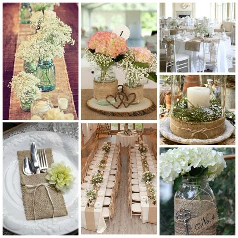table decor burlap wedding decor