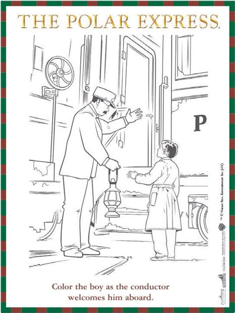 Polar Express Coloring Pages Pdf | free reproducible the polar express coloring sheet