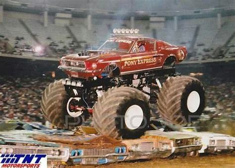 old monster truck videos pony express monster trucks pinterest ponies