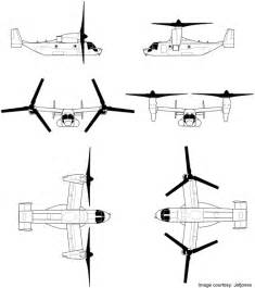 line drawing of the v 22 osprey in various aspects image airforce technology