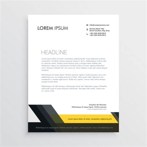 yellow business brochure template with geometric shapes professional brochure with black and yellow geometric