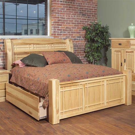 Furniture Superstore Rochester by Aamerica Amish Highlands King Arch Panel Bed W Storage Box