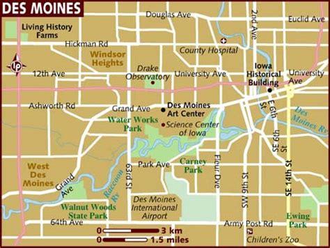 map of des moines map of des moines