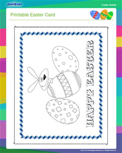 printable children s easter cards printable easter card free easter activity for kids