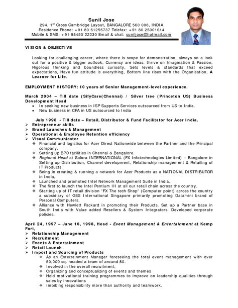 nursing lecturer resume sles india resume format for bank in india sidemcicek
