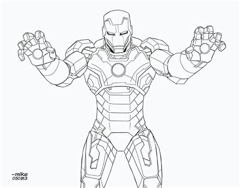 iron man mark 5 coloring pages iron man mark 42 bnw by mikedimayuga deviantart com on