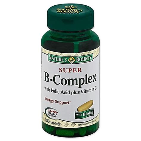 b complex supplement buy nature s bounty 174 b complex with folic acid