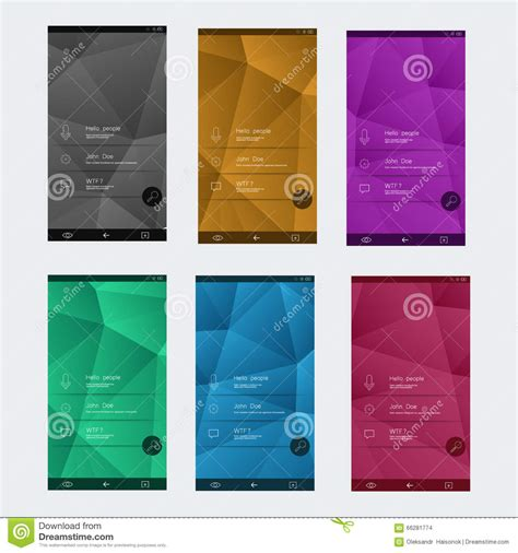 user interface templates set of user interface templates to date design stock