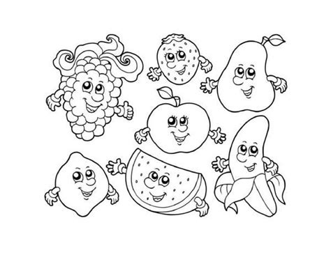 cute vegetable coloring pages 10 images of fruit and vegetable coloring pages sheet