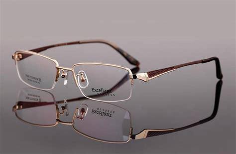 new designer titanium mens half rimless eyeglasses frame