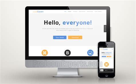 best joomla template framework projoomexperts best free and responsive template