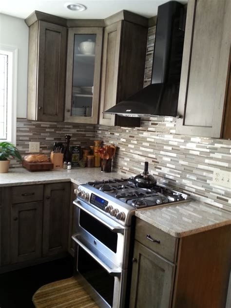 ge cafe appliances complimented with allen roth granite