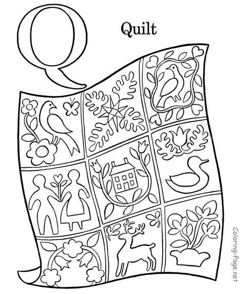 quilt coloring pages preschool 7 best letter q quilt images on pinterest preschool