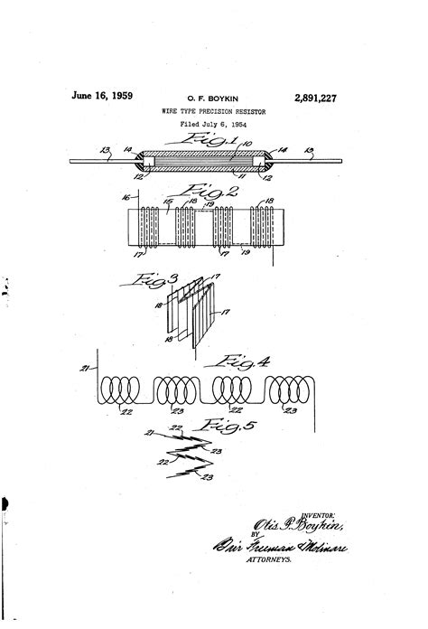 patent us2891227 wire type precision resistor patents
