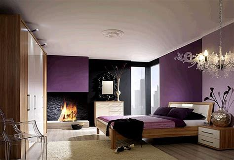 dark purple and grey bedroom how to decorate with purple in dynamic ways