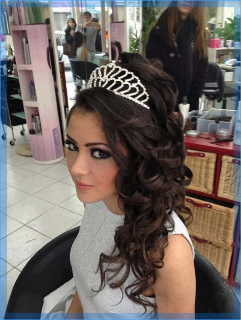 Wedding And Quinceanera Hairstyles by Quinceanera Hairstyles With Tiara Hairstyles