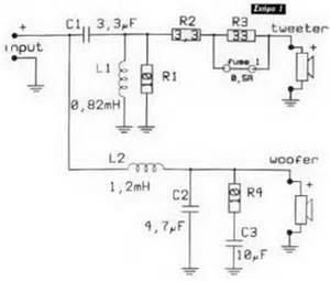 schematic 2 way speaker crossover circuit knowledge